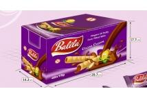 Balila kukuřičné trubičky plněné krémem s kakaovou příchutí  - bez lepku - karton 48 ks