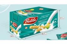 Balila kukuřičné trubičky plněné krémem s mléčnou příchutí - bez lepku - karton 48 ks